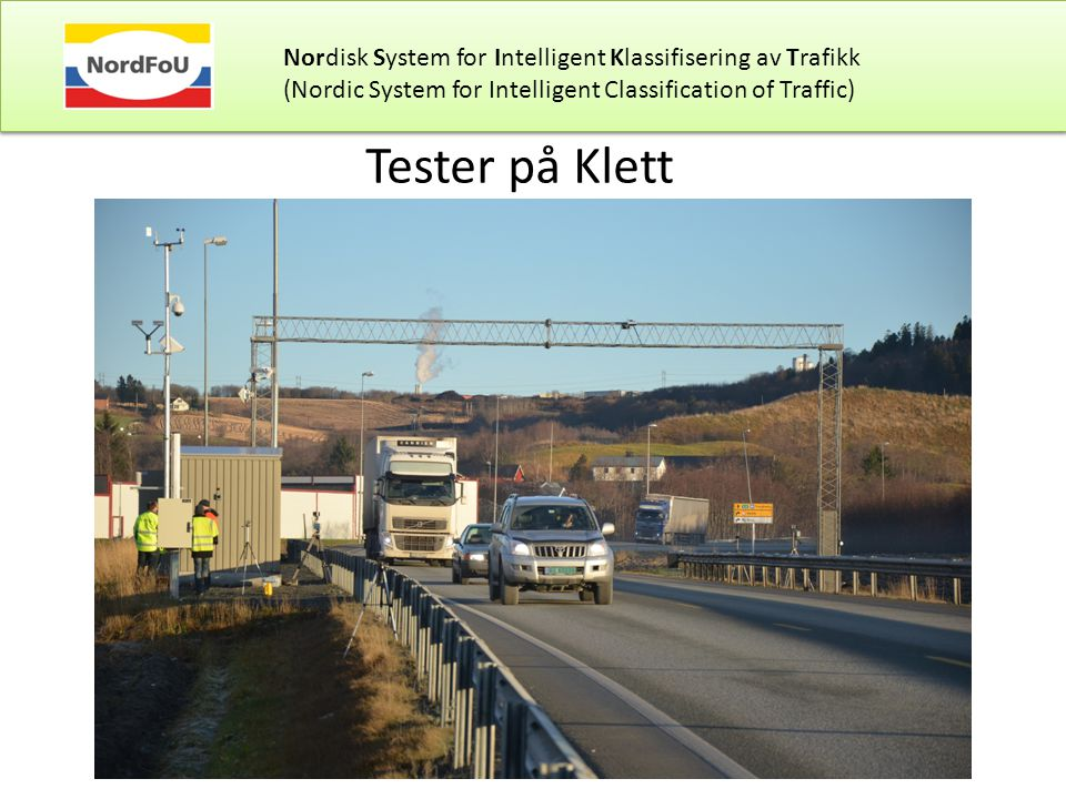 Nordisk System for Intelligent Klassifisering av Trafikk
