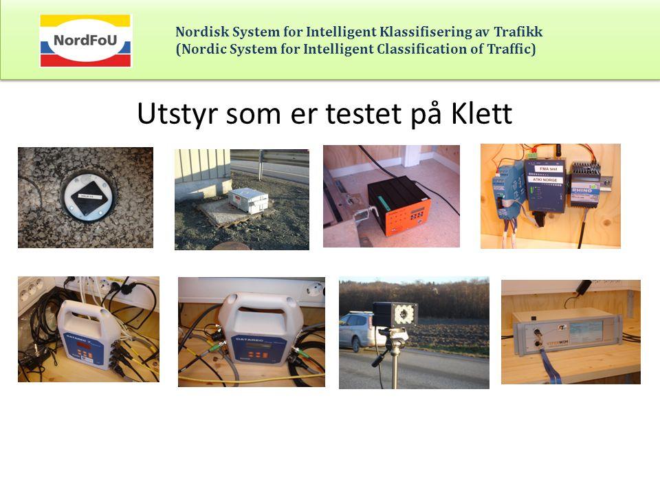Utstyr som er testet på Klett