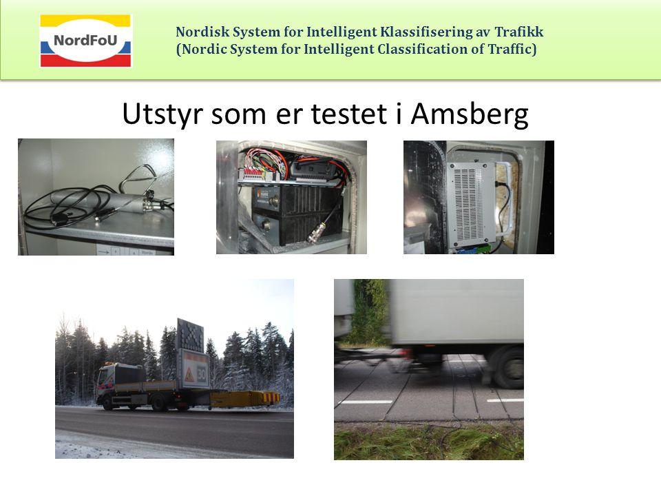 Utstyr som er testet i Amsberg