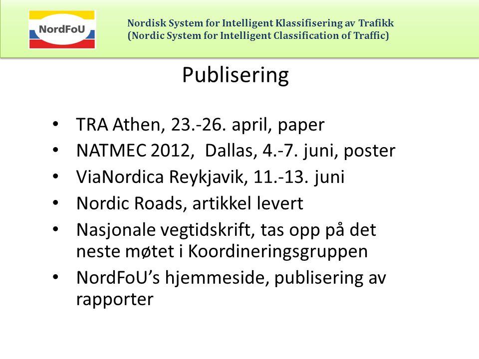 Publisering TRA Athen, 23.-26. april, paper