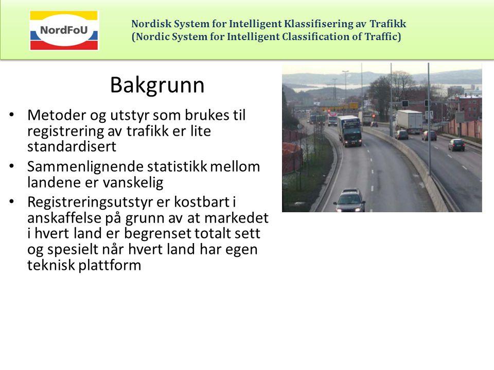 Bakgrunn Metoder og utstyr som brukes til registrering av trafikk er lite standardisert. Sammenlignende statistikk mellom landene er vanskelig.