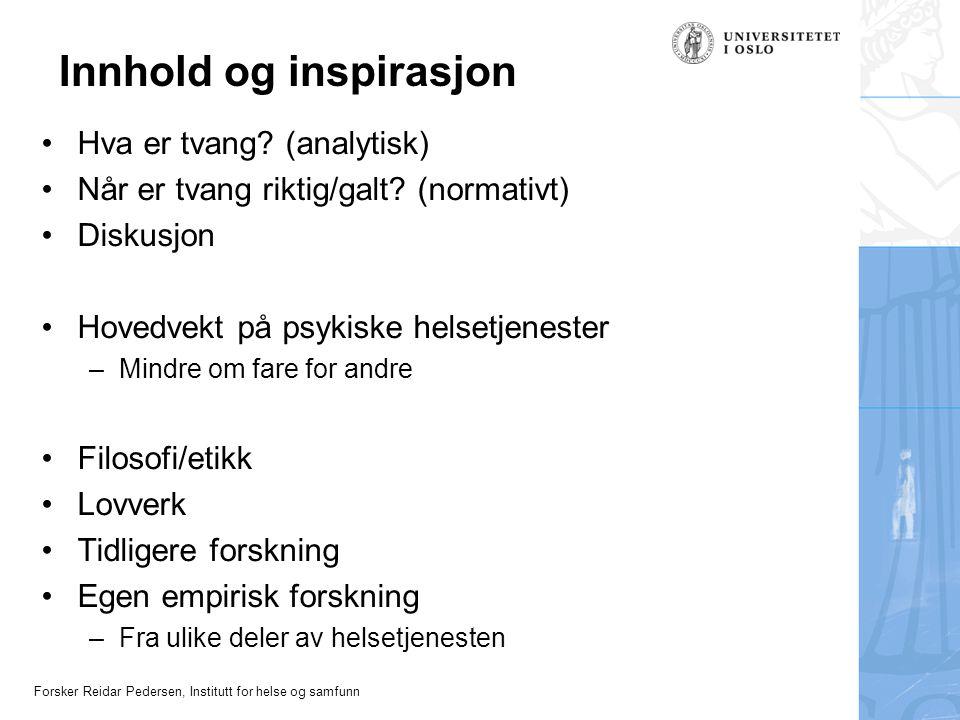 Innhold og inspirasjon