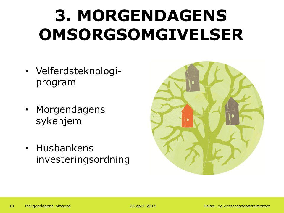 3. MORGENDAGENS OMSORGSOMGIVELSER