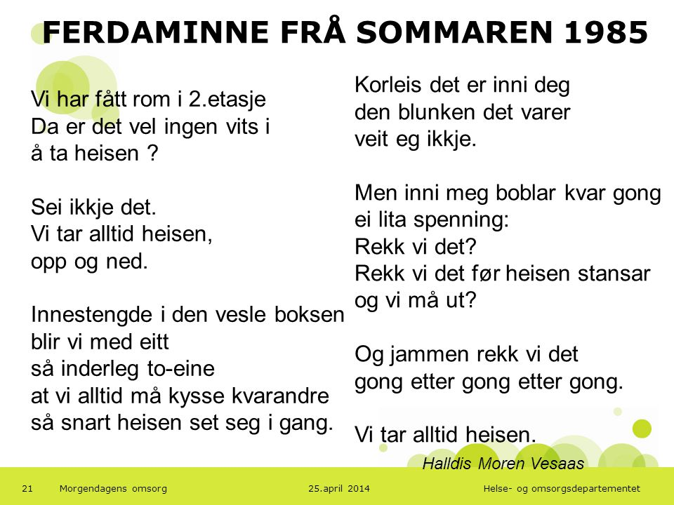 FERDAMINNE FRÅ SOMMAREN 1985