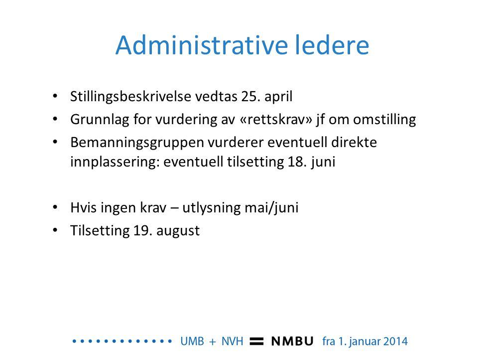 Administrative ledere