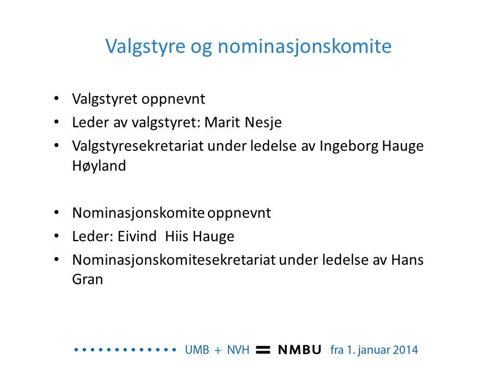 Valgstyre og nominasjonskomite