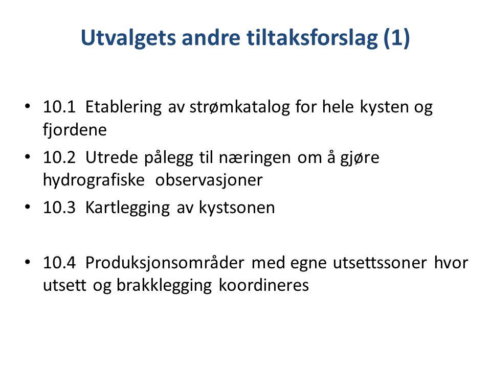 Utvalgets andre tiltaksforslag (1)