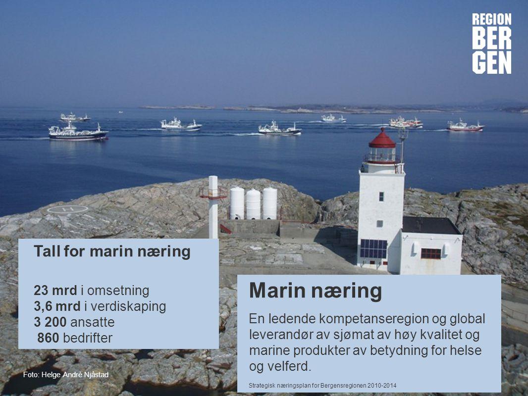 Marin næring Tall for marin næring 23 mrd i omsetning