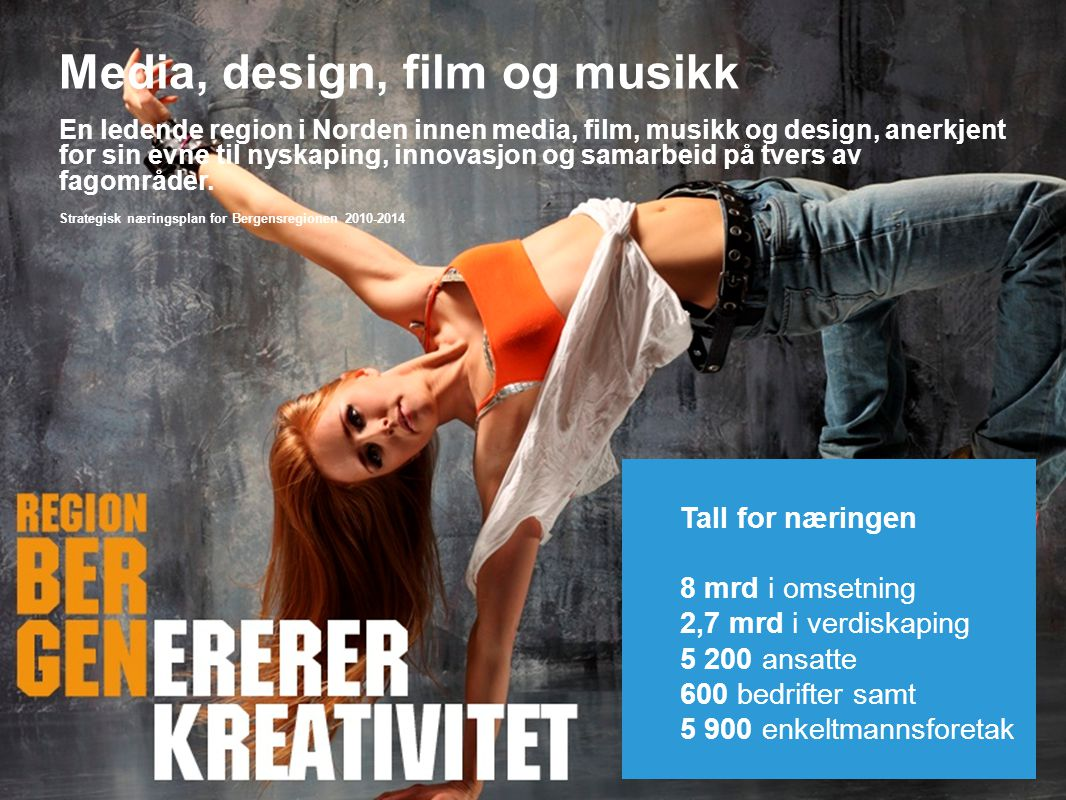 Media, design, film og musikk