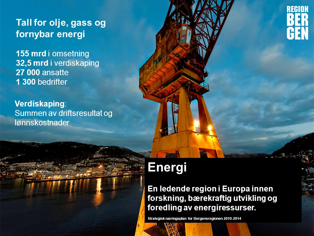 Energi Tall for olje, gass og fornybar energi