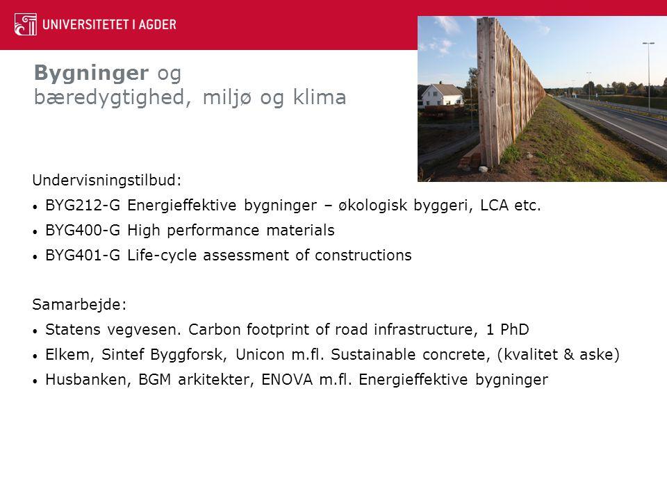 Bygninger og bæredygtighed, miljø og klima