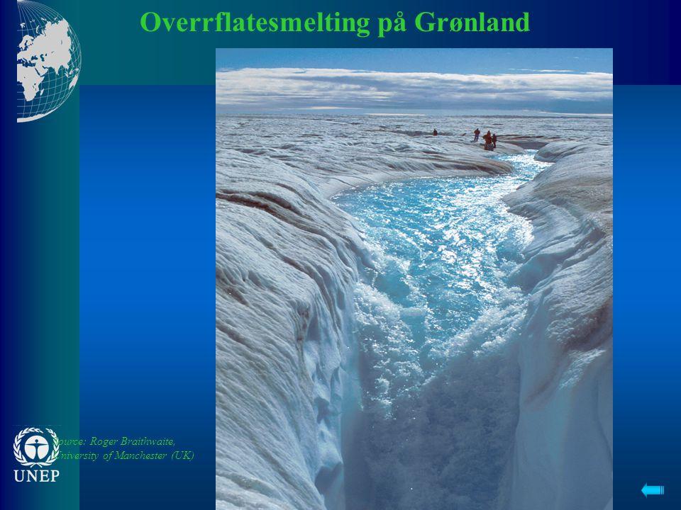 Overrflatesmelting på Grønland