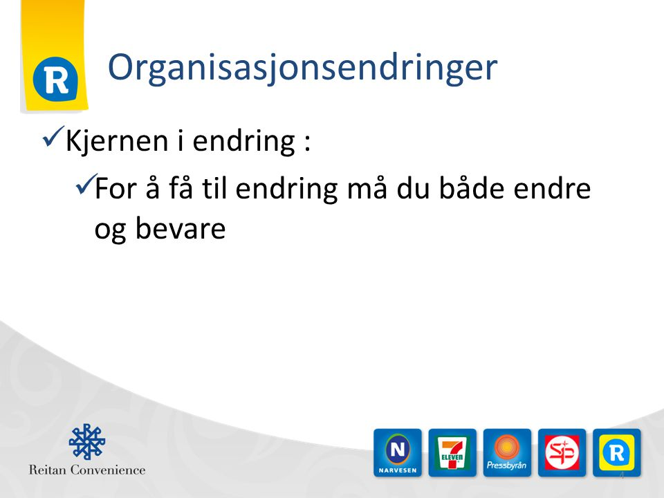Organisasjonsendringer
