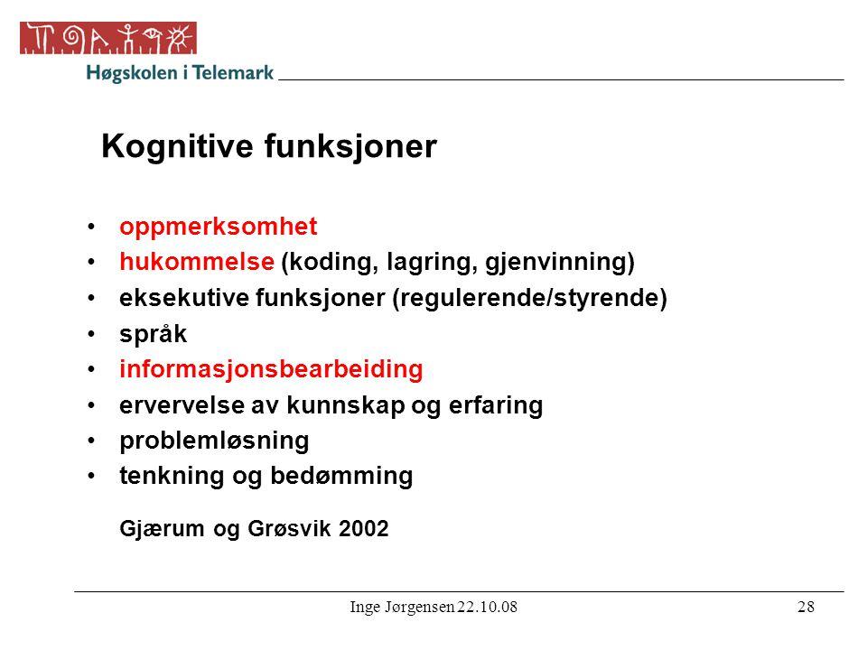 Kognitive funksjoner oppmerksomhet