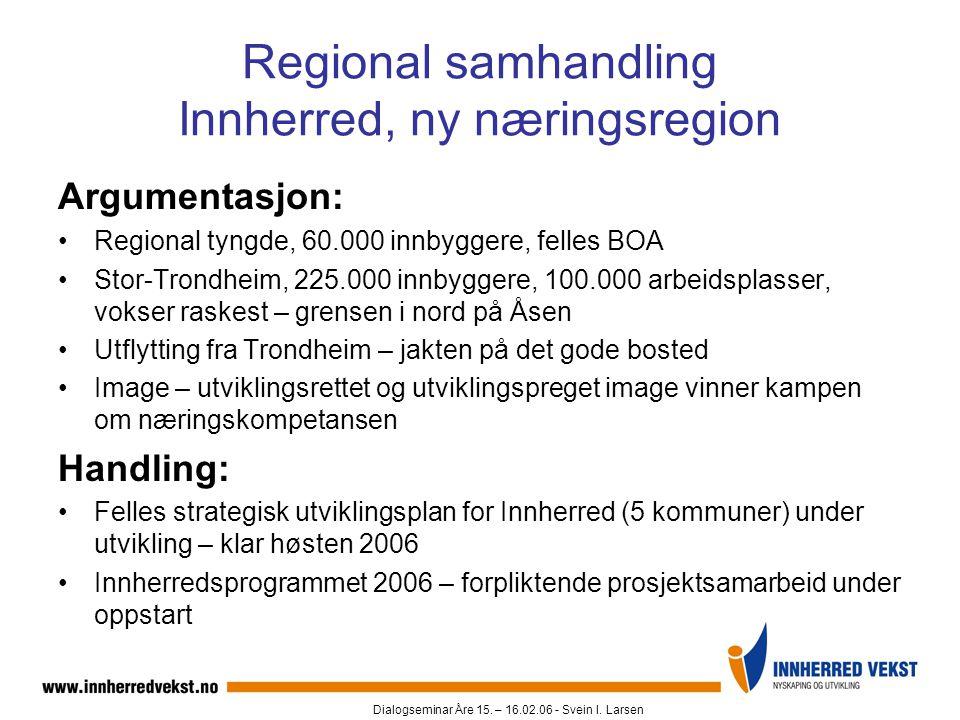 Regional samhandling Innherred, ny næringsregion