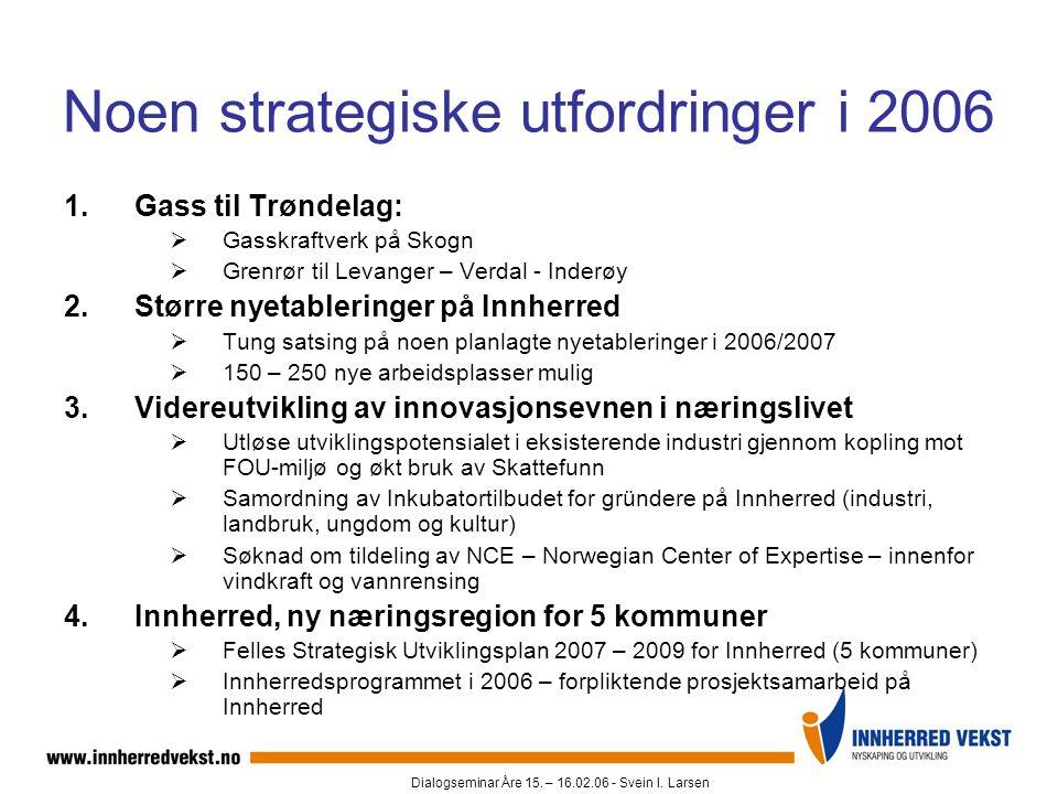 Noen strategiske utfordringer i 2006