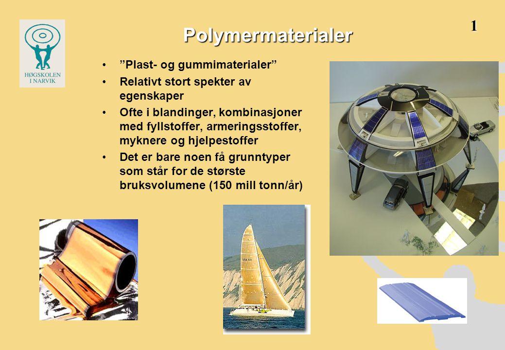 Polymermaterialer 1 Plast- og gummimaterialer