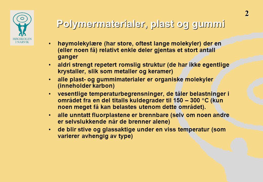 Polymermaterialer, plast og gummi