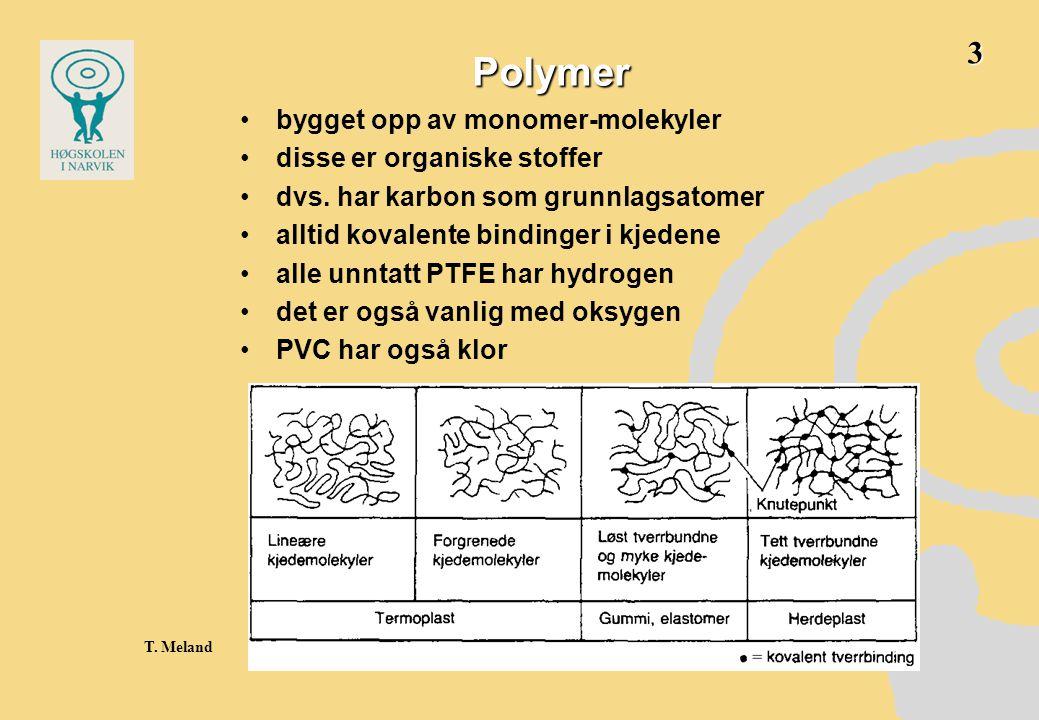 Polymer 3 bygget opp av monomer-molekyler disse er organiske stoffer