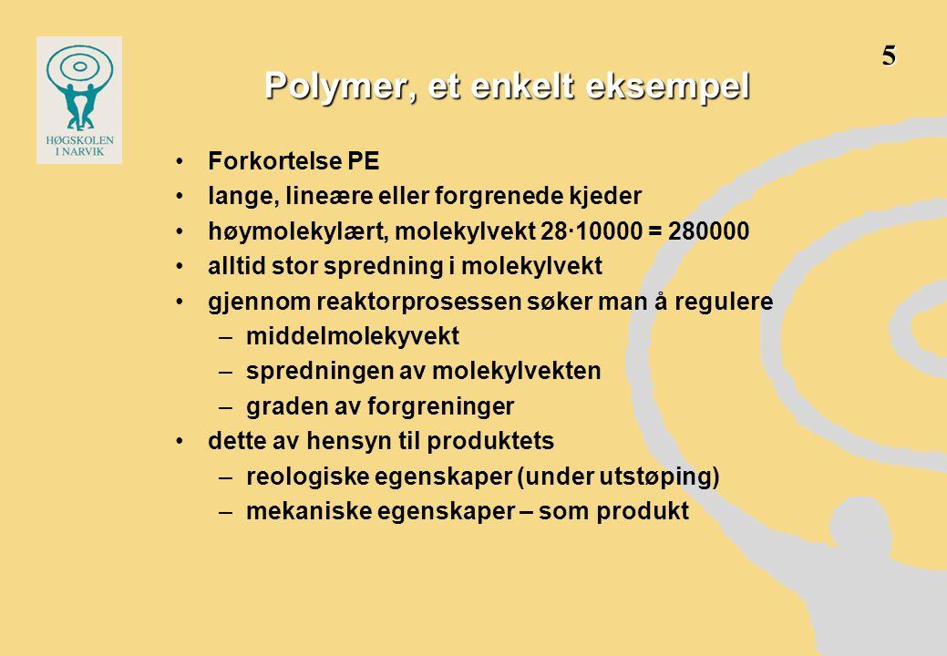 Polymer, et enkelt eksempel