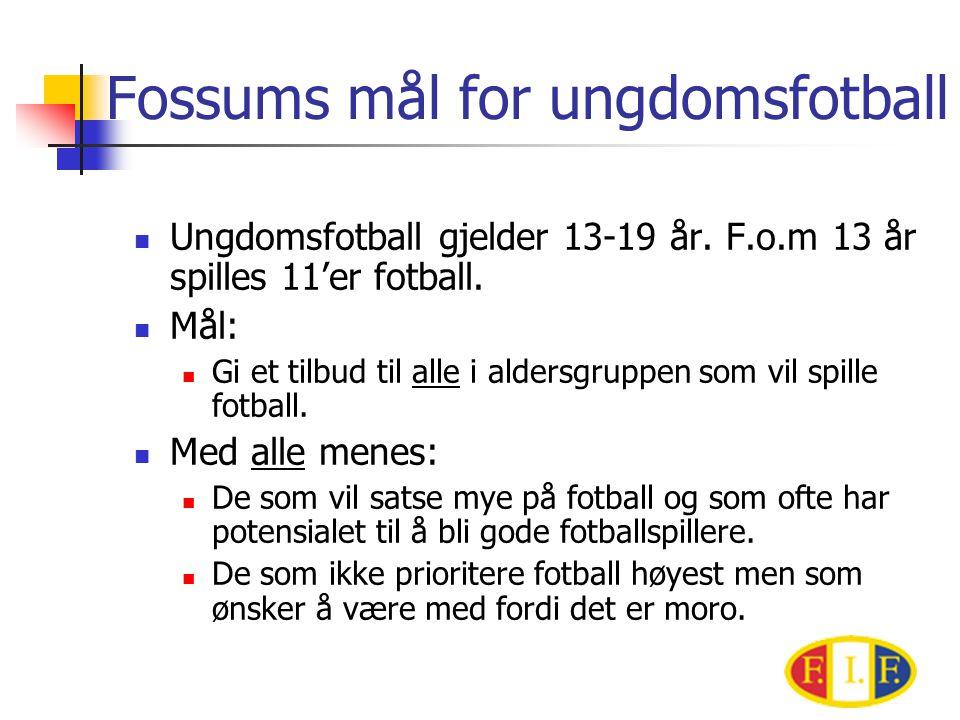 Fossums mål for ungdomsfotball