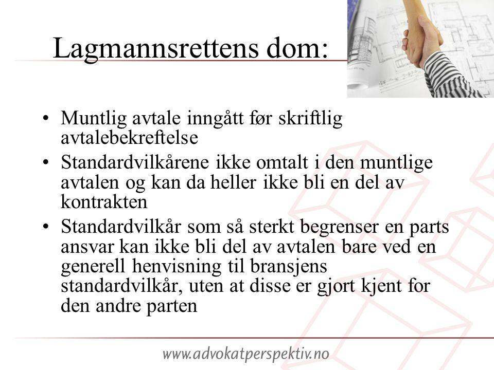 Lagmannsrettens dom: Muntlig avtale inngått før skriftlig avtalebekreftelse.