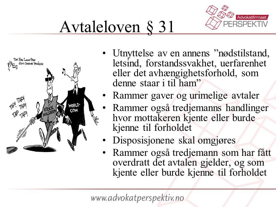 Avtaleloven § 31