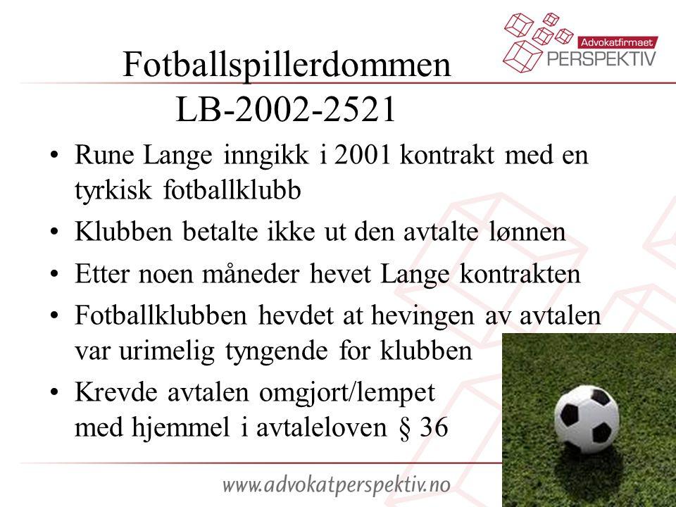 Fotballspillerdommen LB-2002-2521