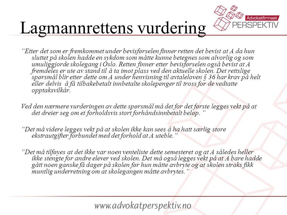 Lagmannrettens vurdering