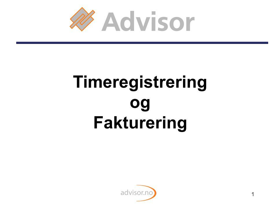 Timeregistrering og Fakturering