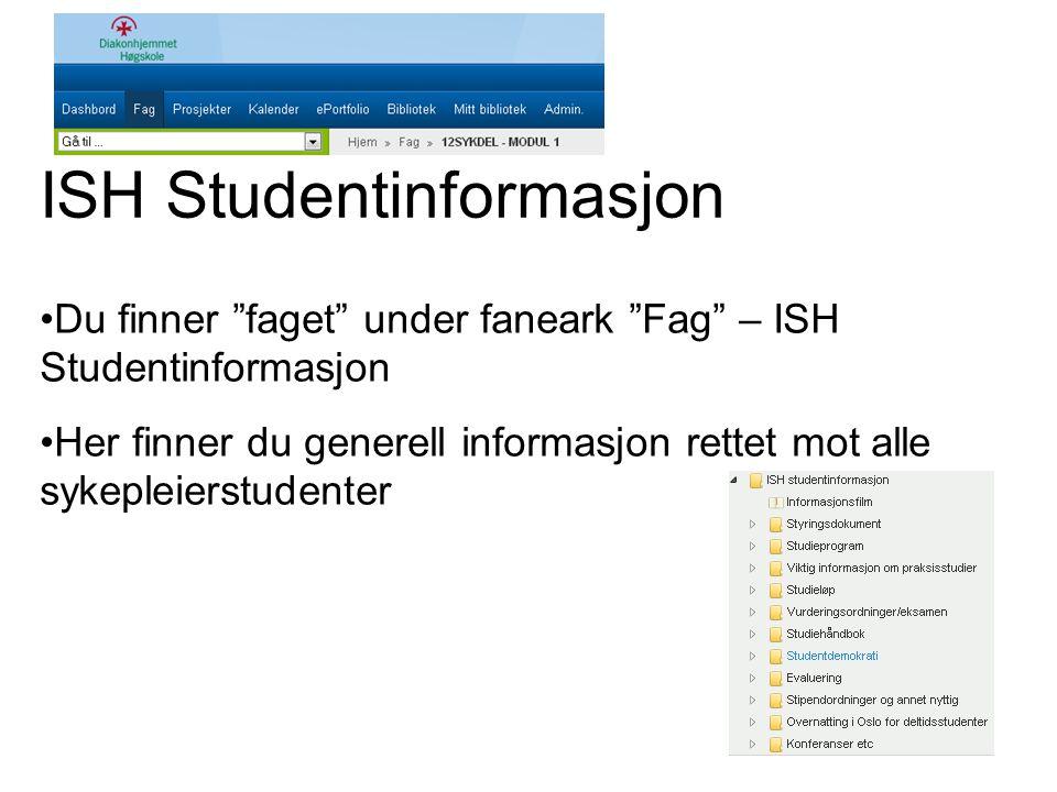 ISH Studentinformasjon