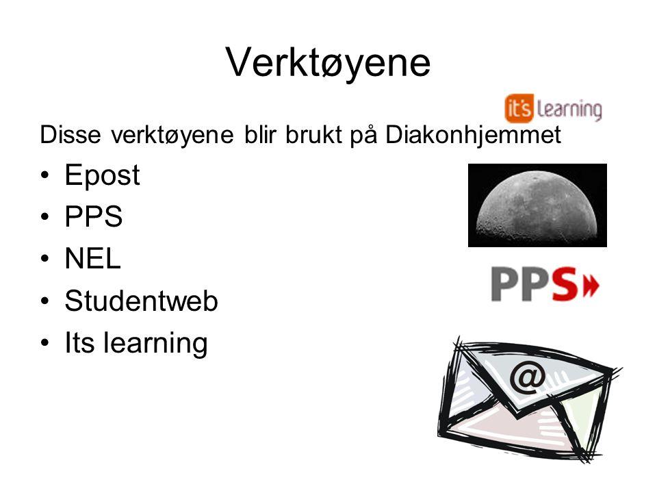 Verktøyene Epost PPS NEL Studentweb Its learning