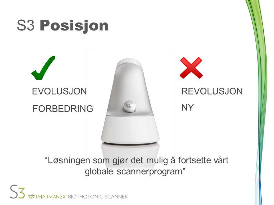 S3 Posisjon 2. enhet Løsningen som gjør det mulig å fortsette vårt
