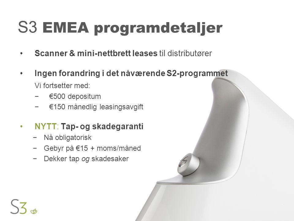 S3 EMEA programdetaljer