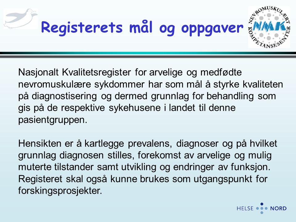 Registerets mål og oppgaver