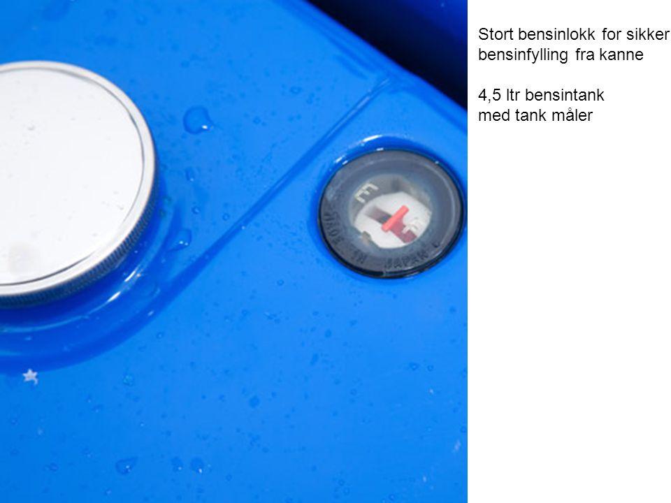 Stort bensinlokk for sikker