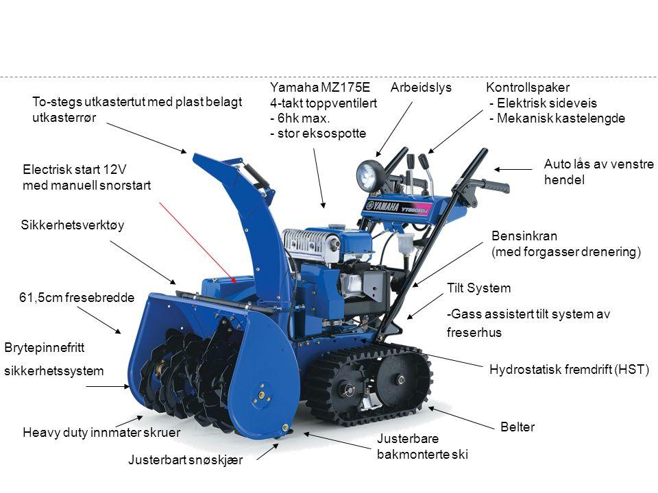 Yamaha MZ175E 4-takt toppventilert - 6hk max. - stor eksospotte