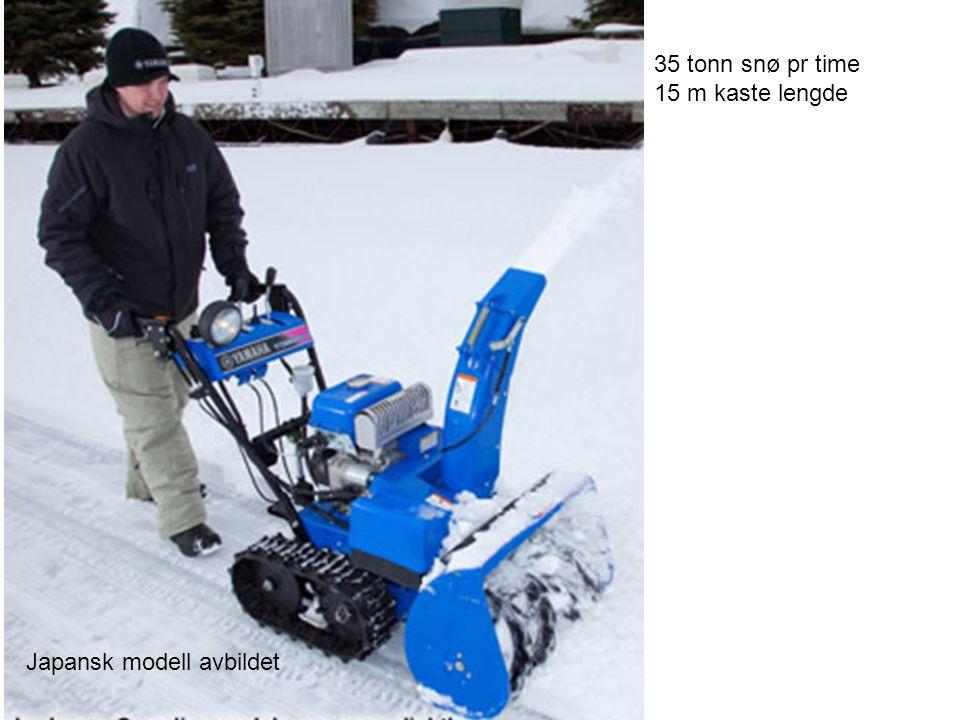 35 tonn snø pr time 15 m kaste lengde Japansk modell avbildet