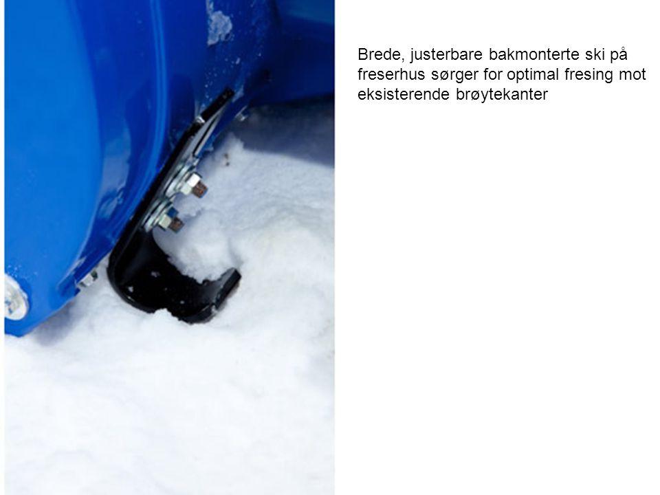 Brede, justerbare bakmonterte ski på