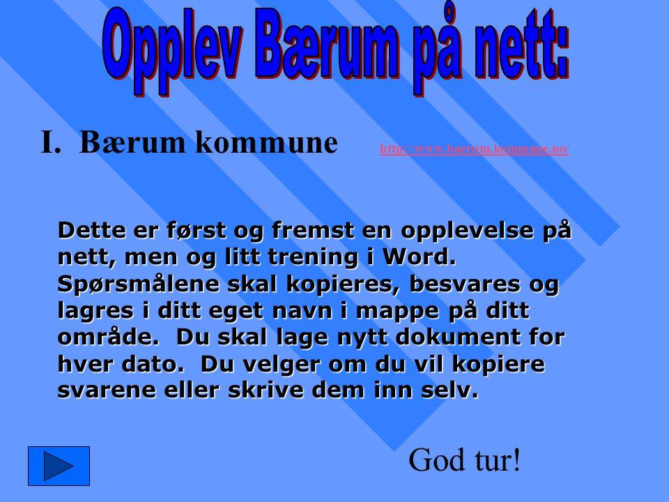 I. Bærum kommune http://www.baerum.kommune.no/