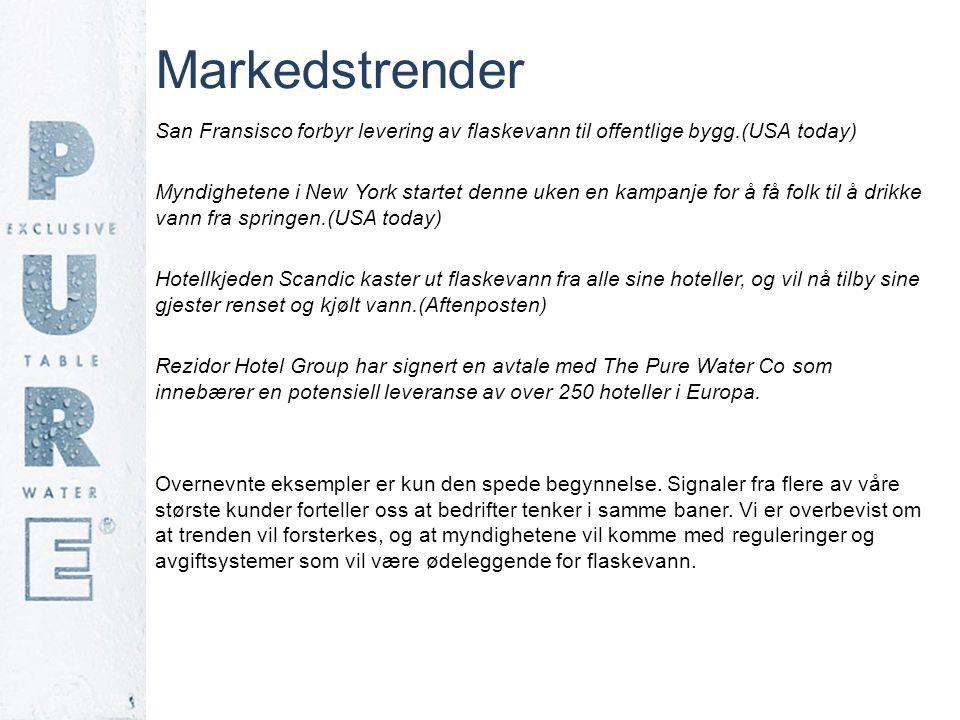 Markedstrender San Fransisco forbyr levering av flaskevann til offentlige bygg.(USA today)