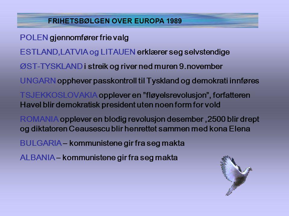 FRIHETSBØLGEN OVER EUROPA 1989