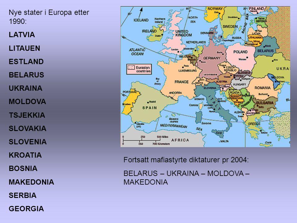 Nye stater i Europa etter 1990: