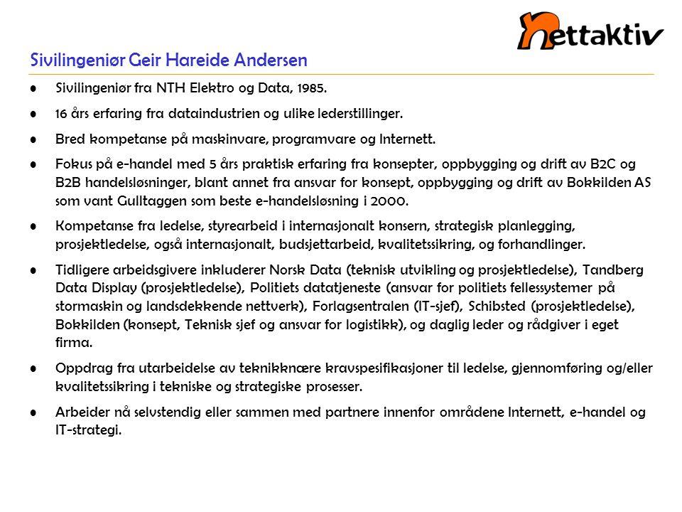 Sivilingeniør Geir Hareide Andersen
