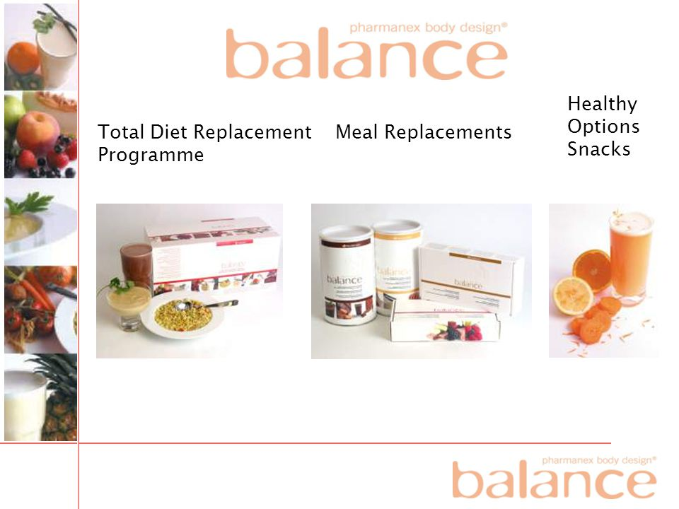 Total Diet Replacement Programme Meal Replacements