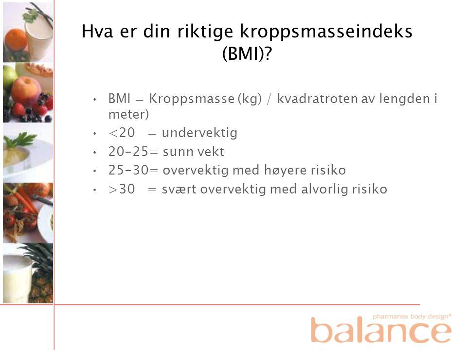 Hva er din riktige kroppsmasseindeks (BMI)