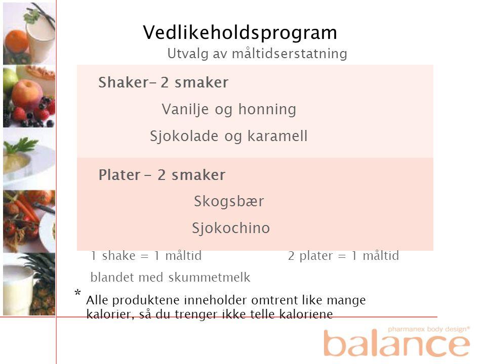 Vedlikeholdsprogram * Shaker- 2 smaker Vanilje og honning
