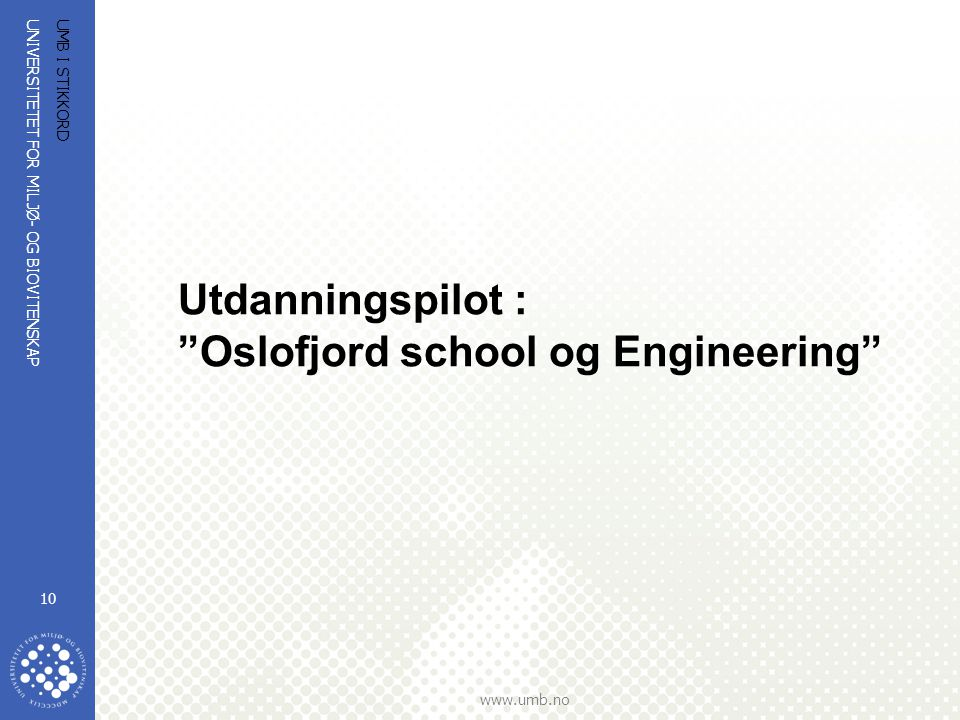 Oslofjord school og Engineering