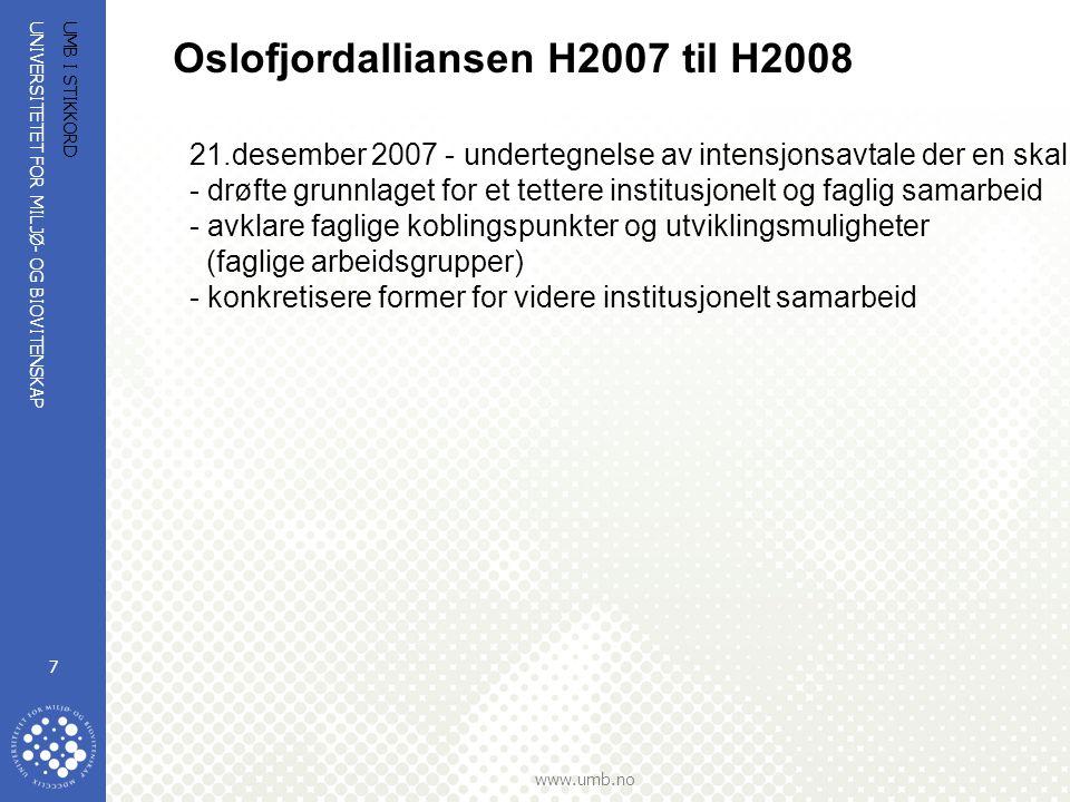 Oslofjordalliansen H2007 til H2008