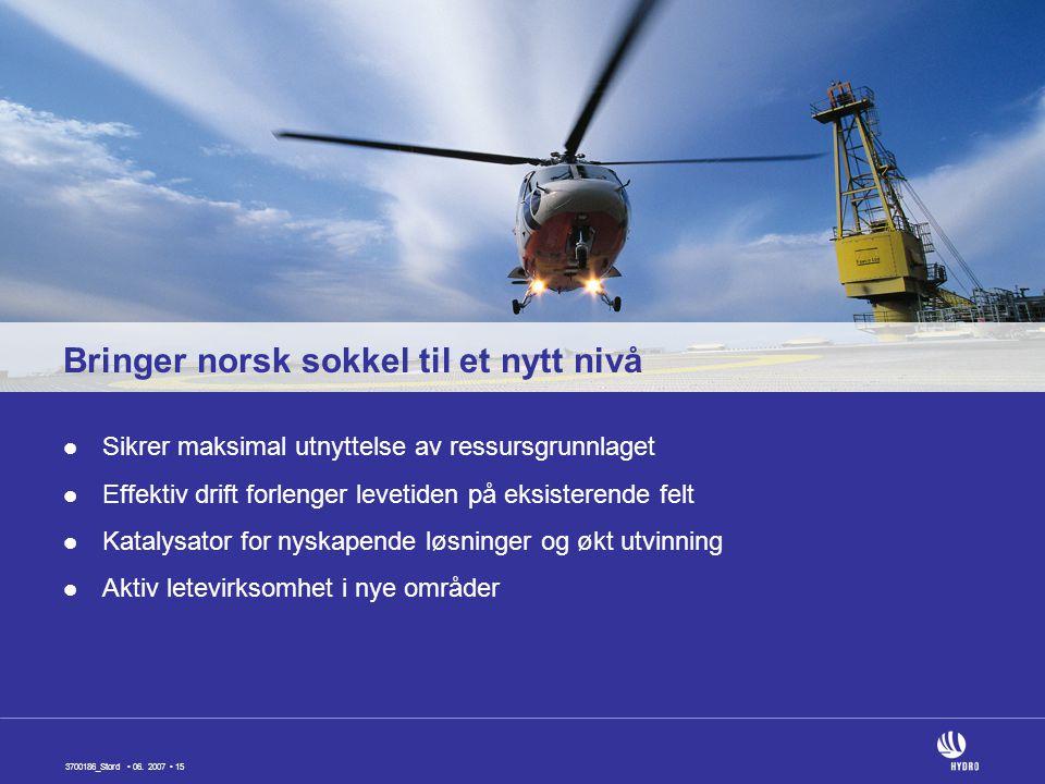 Bringer norsk sokkel til et nytt nivå